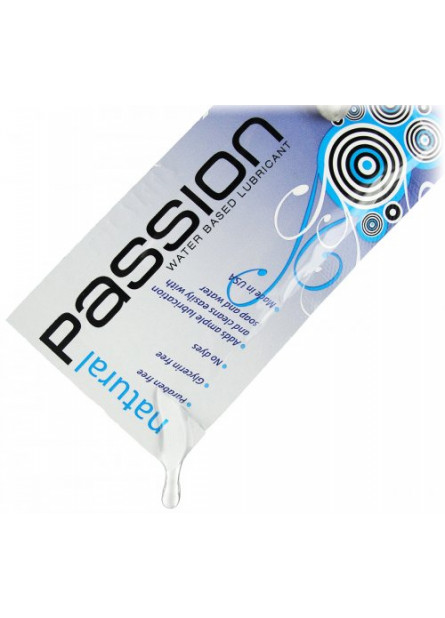 Passion Natural Water-Based Lubricant - 0.25 oz Single Use Pouch